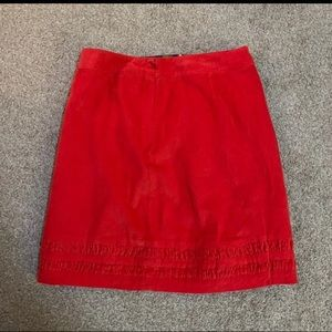 Boden coral red skirt size 8